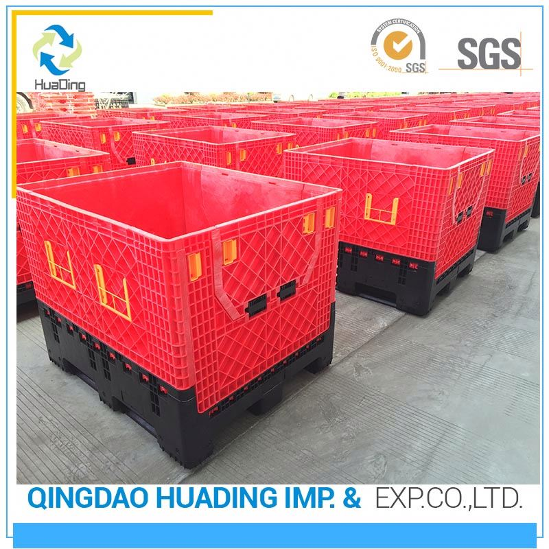 heavy duty folding plastic storage pallet box vegetable and fruit
