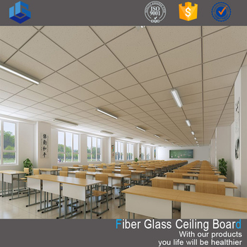 High performance acoustic wool rock ceiling board