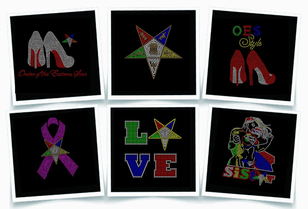 Custom Rhinestone Design OES Sisters Rock Rhinestone Iron on Transfer