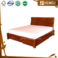 BD0801- Hand carve solid maple wood frame with drawers quality beds
