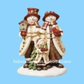 snowman family holiday table shelf decor