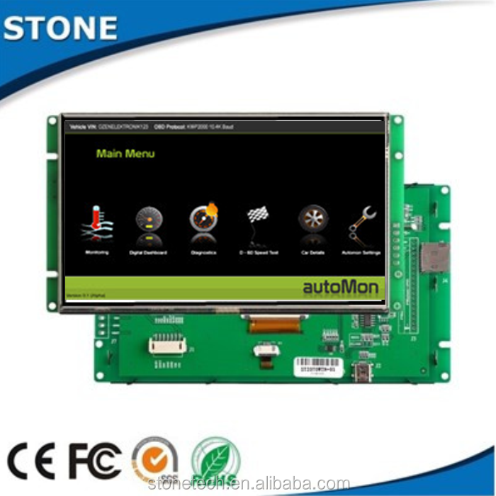 15.1 inch 1024*768 touch screen HMI with /RS232/RS485/TTL port, working with Android windows Linux system