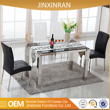 Wholesale dining room modern long narrow dining glass table