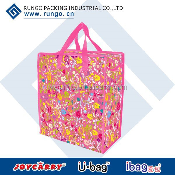 recyclable opp laminated pp woven shopping bag