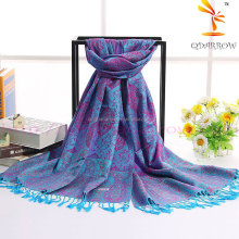 Paisley pashmina scarf and shawl for travel