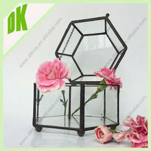Definition ; great for live plante , permanent flowers or decoration small medium large stained glass terrarium container