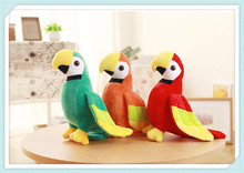 Hot selling soft plush toy parrot birds