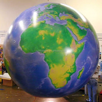 2m decoration giant inflatable world globe balloons