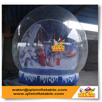 top quality big Christmas inflatable snow globe for sale for party event used