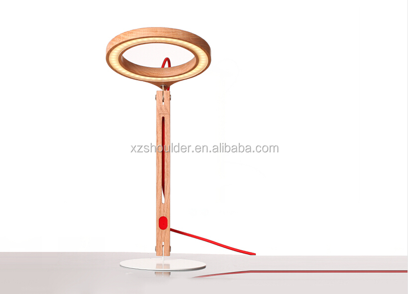 New products home decorative wooden desk table lamp hand made alibaba led lights