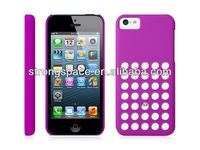 Round Hole Back Door Case for iPhone 5C
