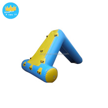 Small kids water slide lake aqua slide poo linflatable water games in summer