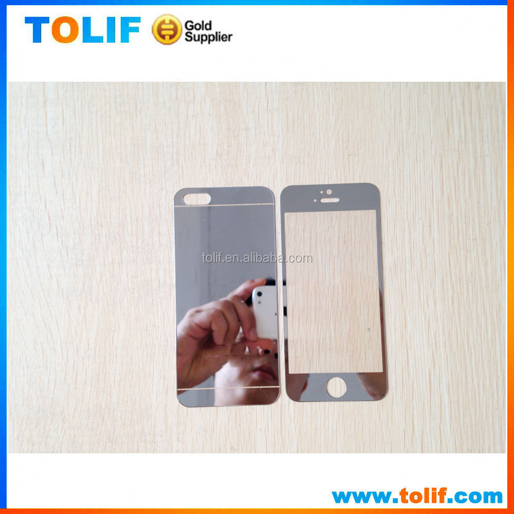 For iPhone 6s and Plus Colorful Mirror Tempered Glass Screen Protector for Front and Back,for iphone 6 temperate glass