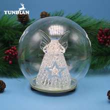 Baoying factory supply clear christmas glass ball with angle ornaments