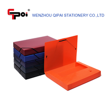 Office Stationery Custom Plastic File Box Document Case Box File With Elastic