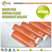Fireproof Black Silicone Rubber Adhesive Sealant