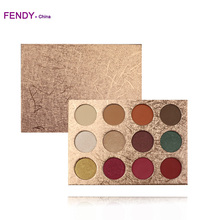 Your own color OEM pigmented 12 color eyeshadow private label eye shadow palette