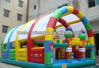 Hot sale inflatable fun city/inflatable castle with tent for kids