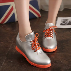W71661G 2016 hot design leather shoe sneakers casual shoes woman wholesale by china