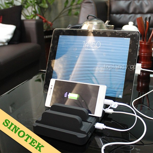 SINOTEK 5 USB power docking station 2.1A for public cell phone charging station
