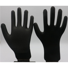 Wholesale Safety PU coated white black work gloves