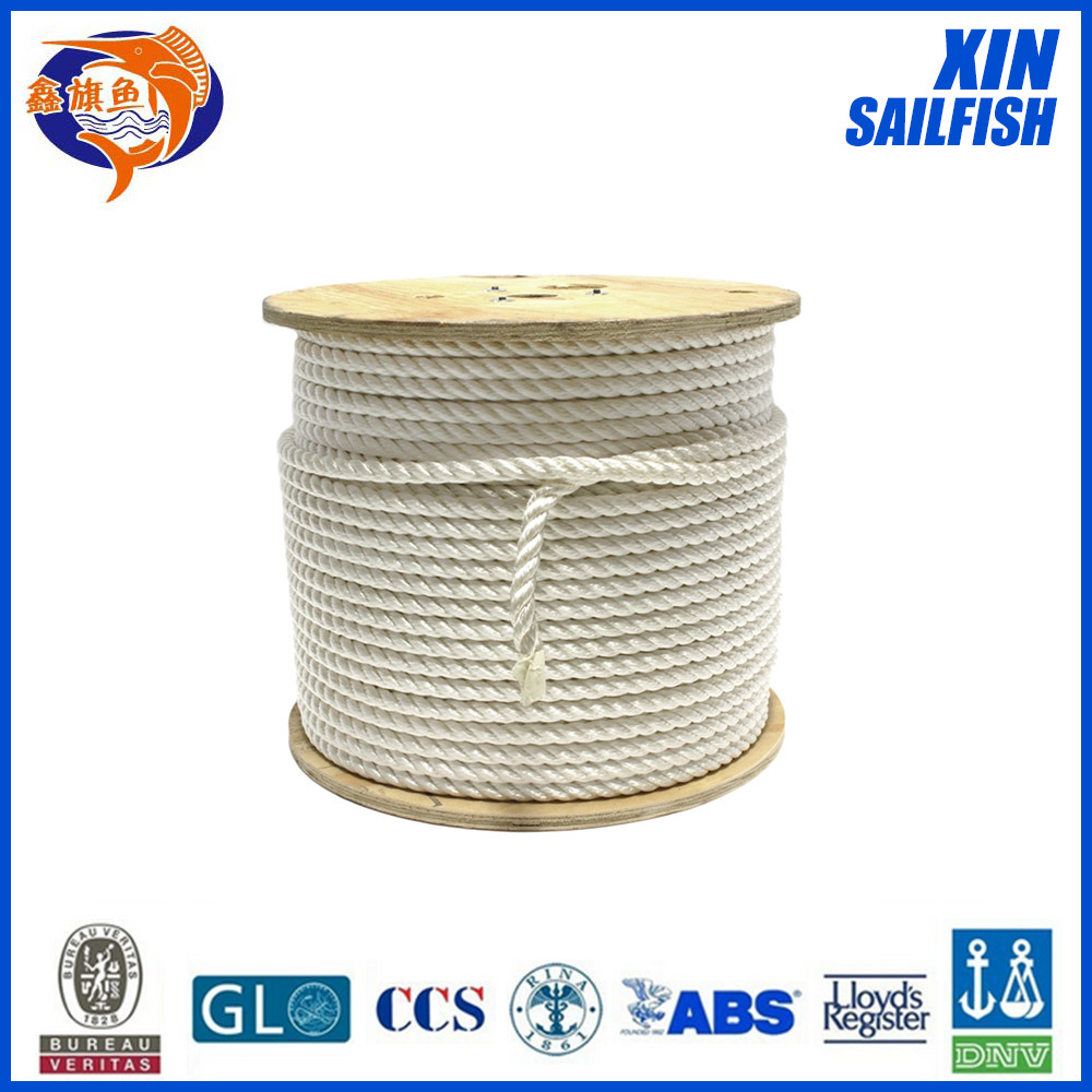 high tenacity 16mm nylon rope with high breaking strength