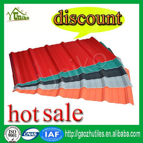 raw materials PVC plastic roof panel/discount corrugated roof sheet/kerala pvc roof tile prices
