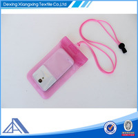 lovely pink waterproof custom logo dry bag for mobile phone /iphone