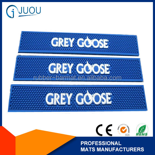"Grey Goose Bar Spill Mat /bar rail drip mat- 23.5"" x 3.25"""