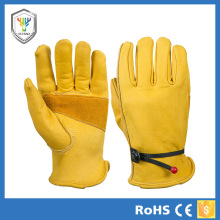 Custom logo chrome leather gloves security gloves