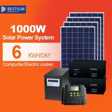 1KW Portable Solar 5W Power Systerm Kits / camping kits home use solar system
