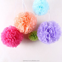 2016 New product hanging decorative tissue paper flower balls