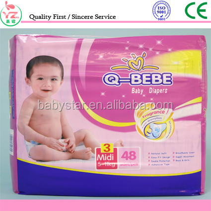 Factory High Absorption Cloth-like Disposable Sleepy Baby Diapers supplier in china