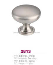 Brushed nickle zamac cast cabinet hardware handle knob
