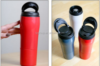 Double wall Suction Mug Never Fall Over Thermos Cups,plastic Mighty Mug Travel Car Mug Flask,550ml insulated never fall over mug