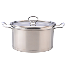 Double handle stainless steel electromagnetic soup pot