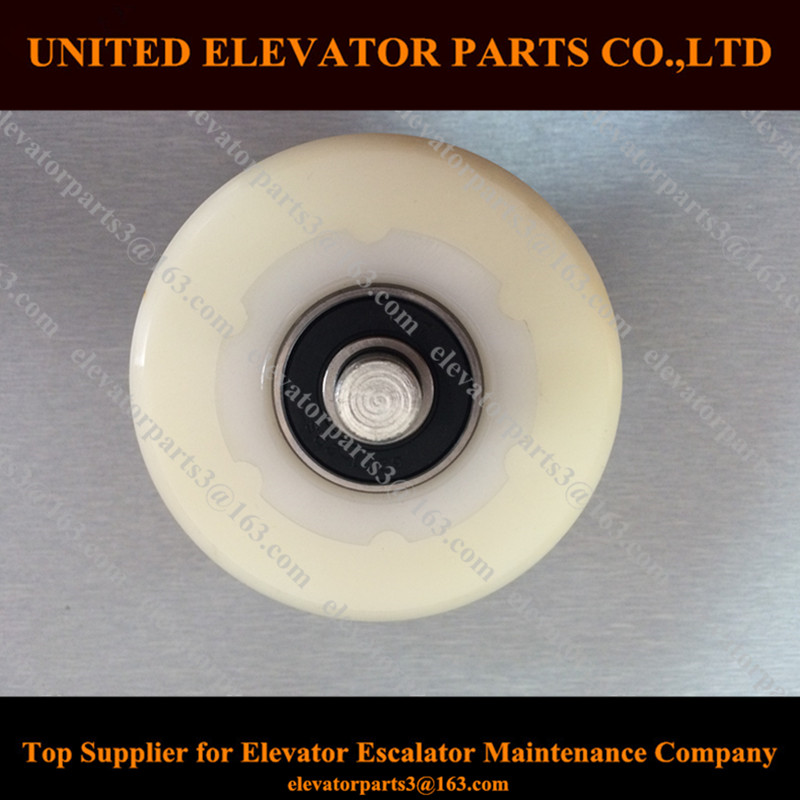 Elevator Handrail Rollers 76*54,Elevator Handrail Support Rollers with Double <strong>Axles</strong> 76*54 <strong>Bearing</strong> 6201-2RS