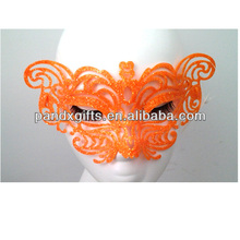 PARTY SUNGLASSES WITH ORANGE GLITTER