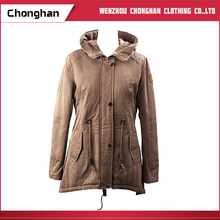 Chonghan 2017 OEM Custom Fashion New Style Brown Colour Winter Coat