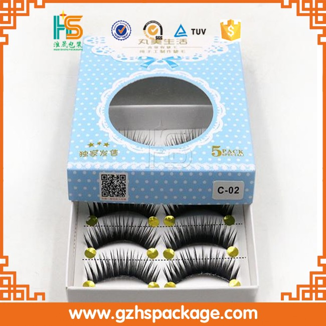 wholesale printing false eyelashes packaging, alibaba custom private label false eyelash packaging box in guangzhou factory