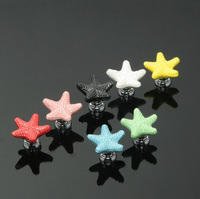 European style antique cartoon starfish design various colors peocelain drawer knobs
