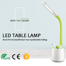 China supplier wholesale pen-holder led linear table lamp foldable led desk lamp office and hotel reading lamp