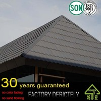 real 100% factory classic colorful stone coated metal roofing tile / metal corrugated tile roofing / Stone Chip Coated Metal