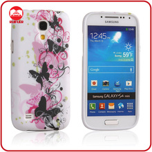 High Quality White Butterfly Stylish Soft Rubber Gel Cover TPU Case for Samsung s4
