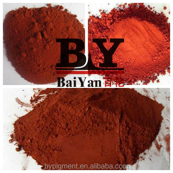 Iron oxide pigment red used in Cement tiles brick