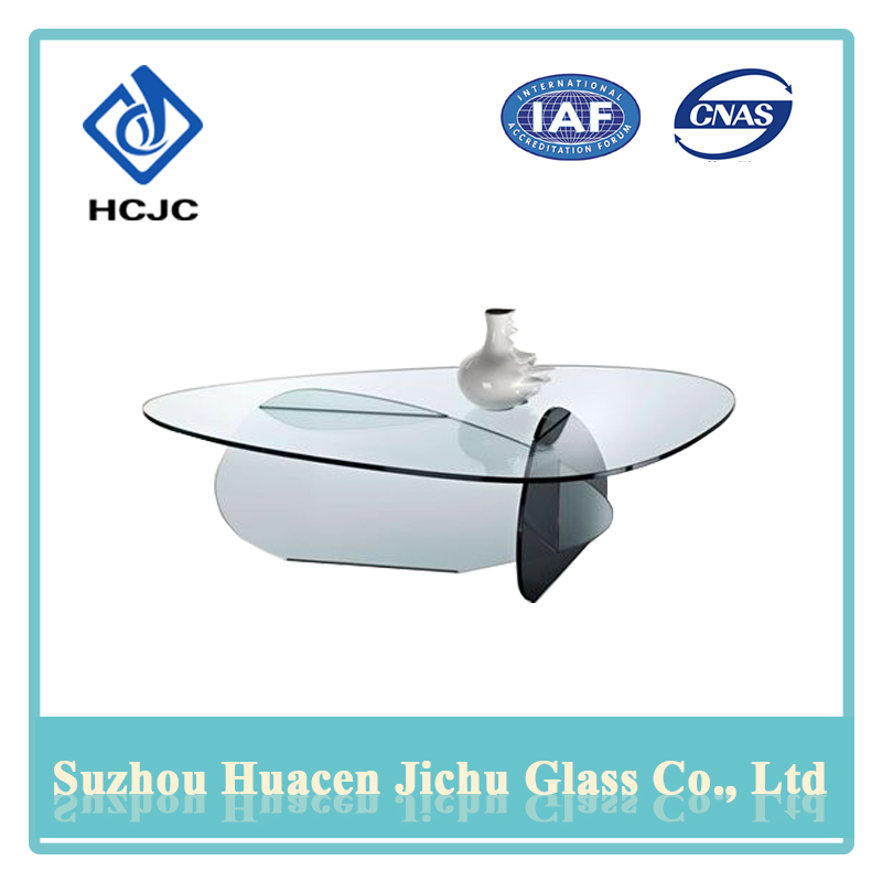 User-friendly safety coffee table modern glass