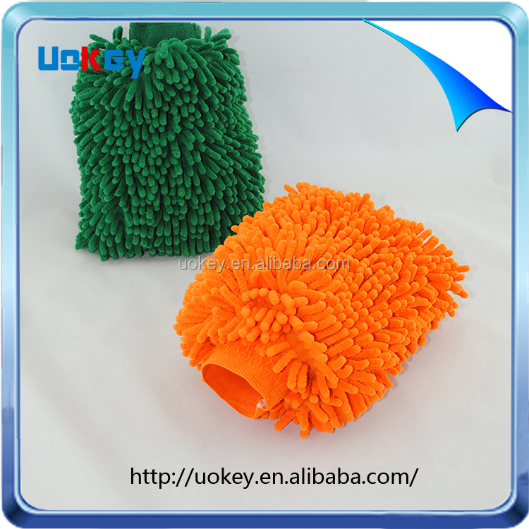 Uokey home use double sided microfibre noodle hand mitt duster