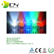 DY Red and Green BI-COLOR LED Diode 3MM Round with Domed Top light emitting diode ( Lens Color Diffused White )