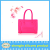 Eco-friendly handbag silicone /ladies shopping tote bag pvc handbags