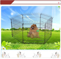 zinc plated plastic powder coated portable wire pet playpen house